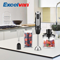 Excelvan Powerful 3-in-1 600W Hand Blender with 500ml Chopper 600ml Beaker and Whisk Attachments