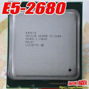 Image 1 - Intel xeon işlemci E5 2680 CPU 2.7G hizmet LGA 2011 SROKH C2 Octa çekirdek e5 2680 bilgisayar masaüstü işlemci işlemci