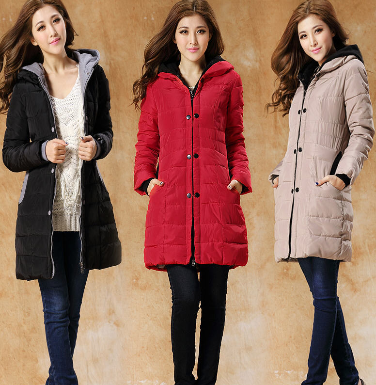 2013 Designer Fashion Korean Autumn And Winter Long Slim Hooded Down Padded Coat Women Plus Size New Stitching Winter Coat H1148 free shipping 2016 autumn and winter explosion models men korean version of slim long warm hooded coat