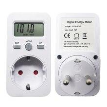AC 230 в 16A 3680 Вт ЕС вилка цифровой монитор мощности счетчик энергии ваттметр ЖК ватт метров детектор W кВт-ч цена стоимость/кВт-ч дисплей