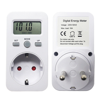 AC 230V 16A 3680W EU Plug Digital Power Monitor Energy Meter Wattmeter LCD Watt Meters Detector W KWH Price COST/KWH Display|Power Meters| |  -