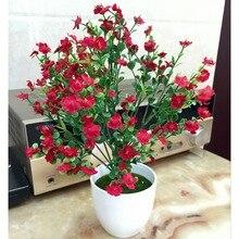 Искусственные цветы маленькие комнатные растения бонсай Мода Офис/украшение сада имитация растений домашние вечерние цветы
