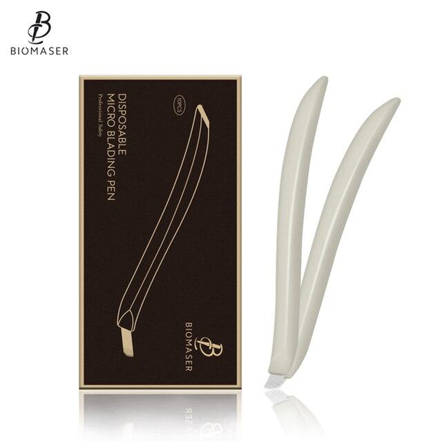Biomaser Disposable Microblading Pen for Eyebrow Permanent Makeup Needle 12CF-18U Micro Needlle Pen Eyebrow Tattoo Pen Tools
