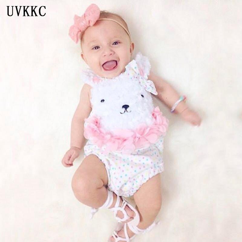 Nowo narodzonego dziecka dziewczyna pajacyki słodkie niemowlę ropa - Odzież dla niemowląt - Zdjęcie 4