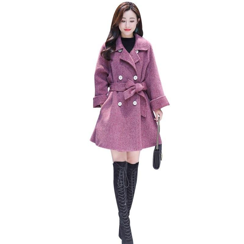 2018 Estilo Abrigo Nuevas F20 Lana Invierno Gris Mezclas Doble Moda Coreano  Oversize Breasted Chaquetas púrpura Otoño Mujeres rOwqrn6Fv f9cdd74c4fd1