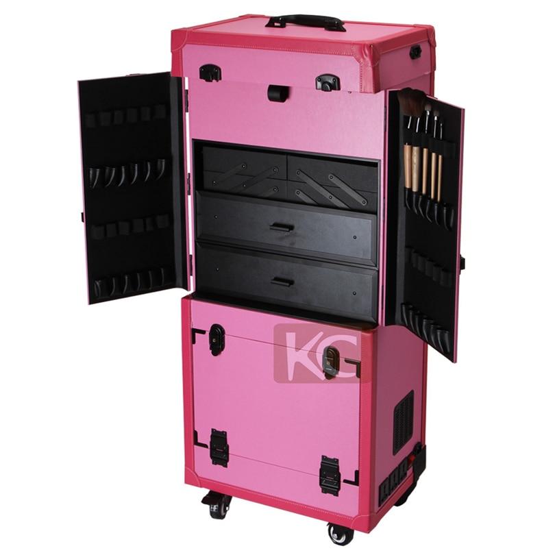 vanity box pofessional trolley makeup aluminum carrying case makeup