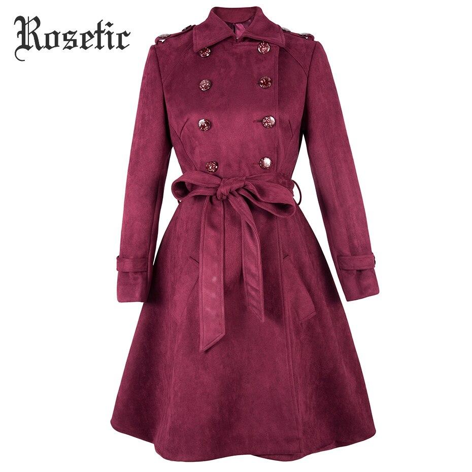 Rosetic gothique manteau Vintage Trench femmes automne à lacets pardessus arc survêtement rétro élégant mode Sexy bureau dame Goth manteau