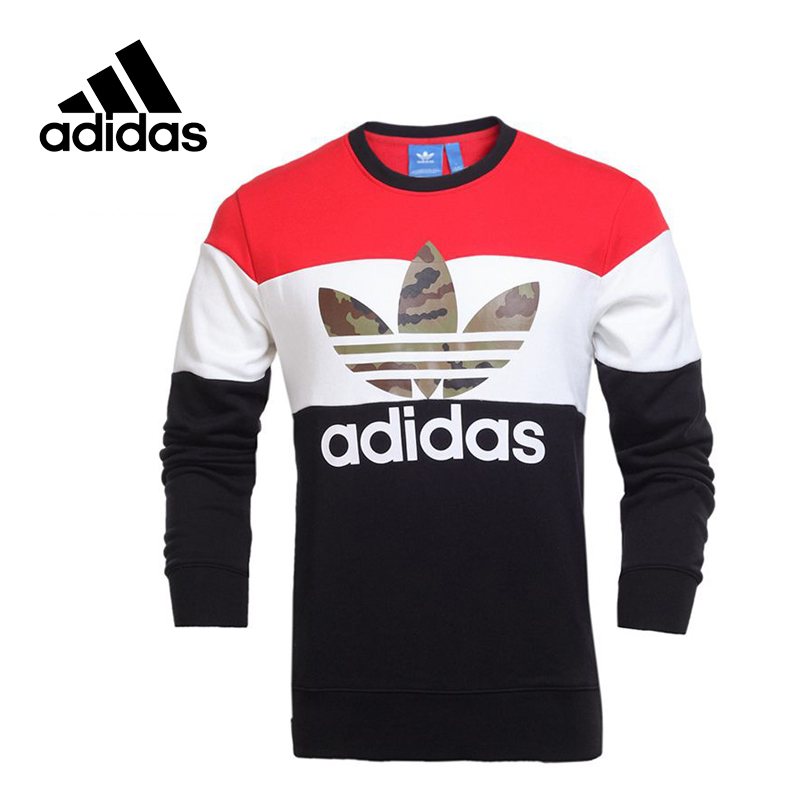 Original New Arrival Official Adidas Originals Men's Pullover Jerseys Sportswear adidas original new arrival official women s tight elastic waist full length pants sportswear aj8153