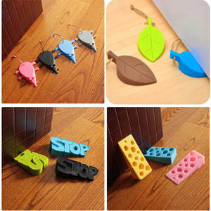 Door-Stopper Home-Decoration Silicon Safety Cartoon Cute 1PCS for Baby Leaf-Style
