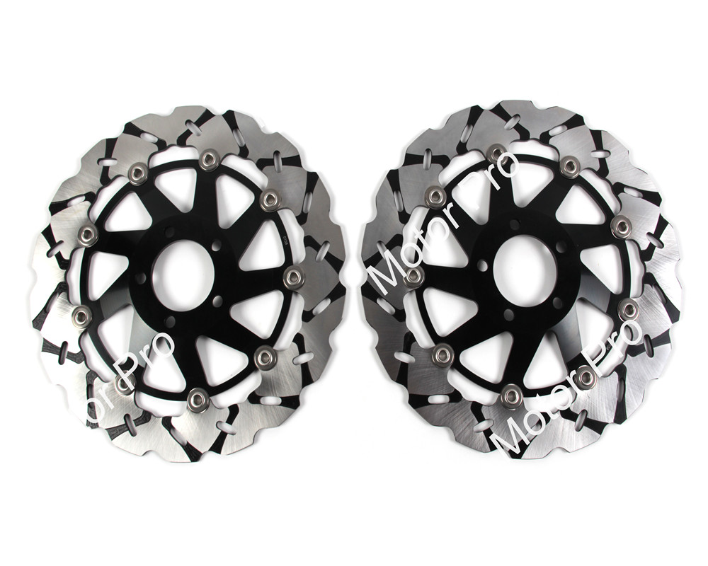 2 PCS CNC Motorcycle Front Brake Disc FOR KAWASAKI ZXR 400 ZXR400 1991-1997 1998 1999 2000 2001 2002 NINJA ZX9R brake disk Rotor motorcycle handlebars clip on for kawasaki zx6r 600cc zx9r 900cc 1998 2002 page 2