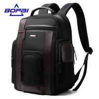 BOPAI New Black Multi Pocket Men Backpack Business Solid Nylon Men Daypacks Mochila Bags Convenient USB