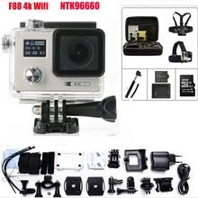 F88 действие Камера Ultra HD 4 К Wi-Fi 1080 P/60FPS 2.0 дюймов ЖК-дисплей двойной Экран Новатэк 96660 камеры Открытый Водонепроницаемый Спорт Камера