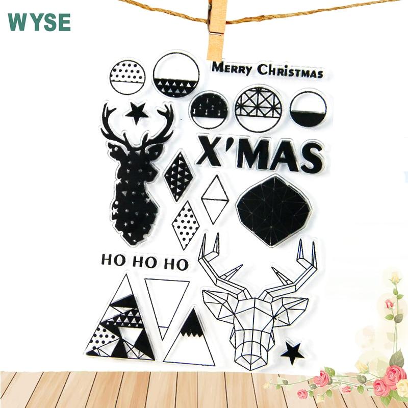 Christmas Tree Deer Sock Snowman Transparent Stamp Santa Stops Clear
