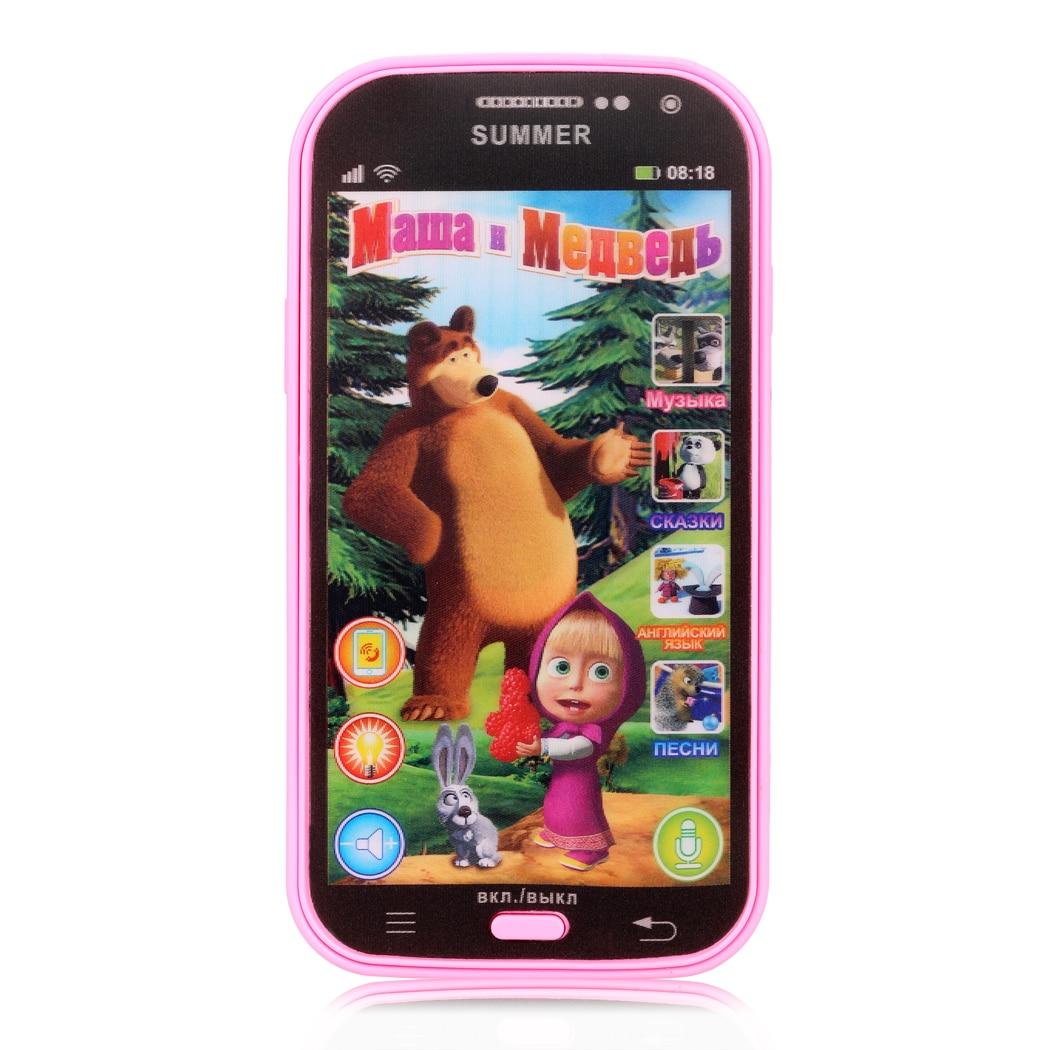 Новый развивающие детские телефон игрушка музыкальный симулятор телефон Сенсорный экран детская игрушка электронного обучения России Язы…