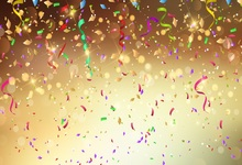Laeacco Colorful Ribbon Light Bokeh New Year Party Photography Backgrounds Customized Photographic Backdrops For Photo Studio