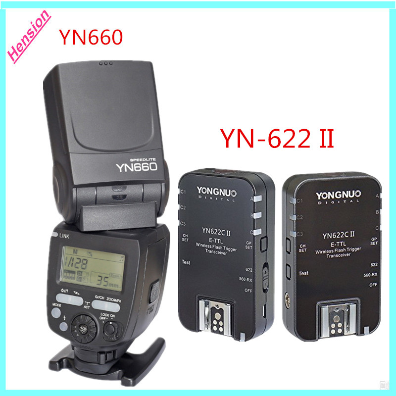 YONGNUO YN660 2.4 Г Мастер Ведомой Вспышки Speedlite + YONGNUO YN-622C E-TTL II HSS Вспышка Триггера Для Цифровой Зеркальный Фотоаппарат Canon Nikon Камеры