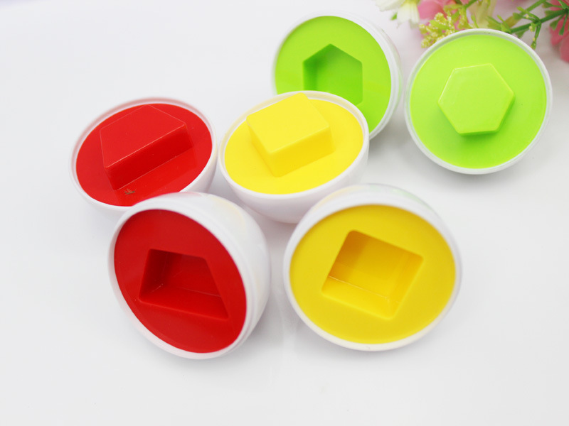 6Pcs/set Brand New Learning Education Toys Mixed Shape Wise Pretend Puzzle Smart Eggs Baby Kid Learning Kitchen Toys Tool 4