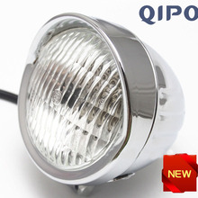 QIPO алюминиевая мотоциклетная противотуманная фара 35 Вт галогенная передняя фара комплект подходит для большинства мотоциклов