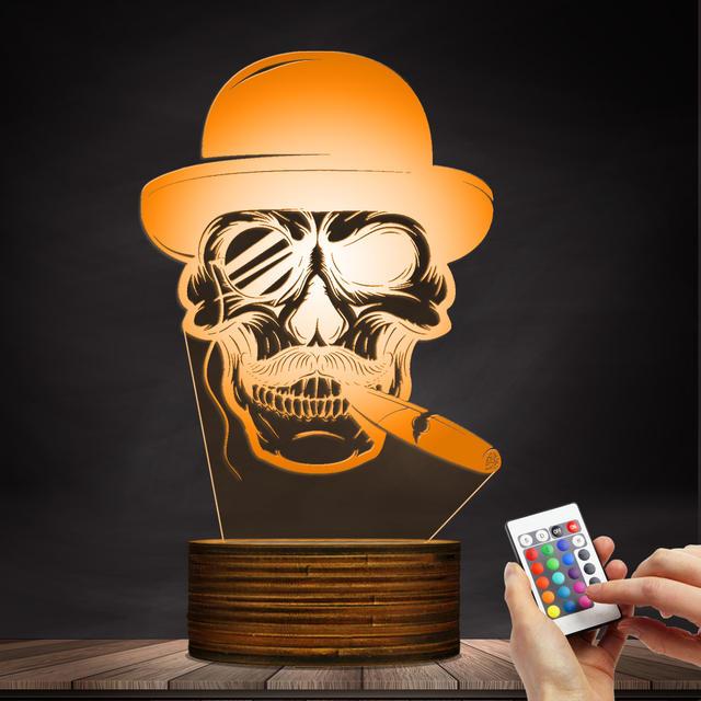 3D XNUMXD LAMP XULASHADA HAT CIGAR