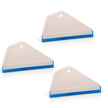 FOSHIO 3pcs Vinyl Car Cleaner Snow Water Wiper Blade Rubber Squeegee Wrap/Tint Tools Window Wash Cleaning Tool Scraper