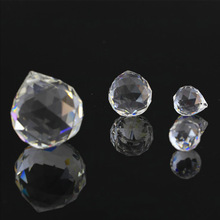 hbl 10pcs/lot 30mm Clear Faceted Crystal Prism Ball Chandelier Lighting Hanging Drop Pendants Wedding Decoration