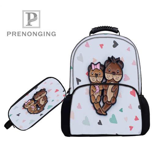 Personnalisé 17 pouces original _ sacs à dos stylo sacs impression 3D école femmes hommes voyage sacs garçons filles livre ordinateurs sac #1031-2-13
