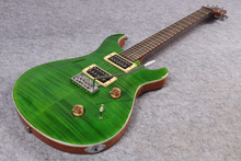 Neue ankunft! grasgrün KÖNIGLICHE Elektrische gitarre mit Flamed Maple Top, 24 bünde OEM P R S Gitarre