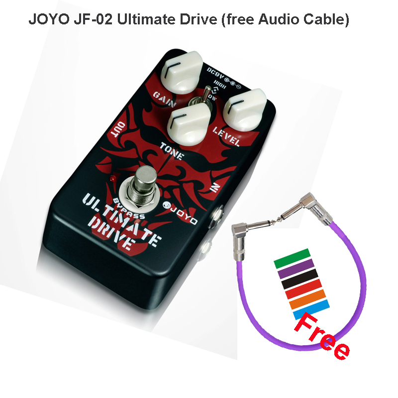 JOYO JF-02 Ultimate drive Extreme overload effect pedal for Guitars of high-power overdrive booster tube true bypass+free Cable аксессуары для гитары ultimate jf 02 joyo jf 02
