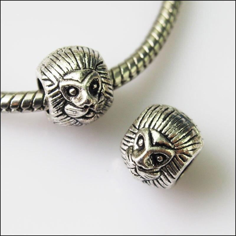 Smart 8pcs Antiqued Silver Lion Spacer Beads Fit European Charm Bracelets 8.5x10mm Beads