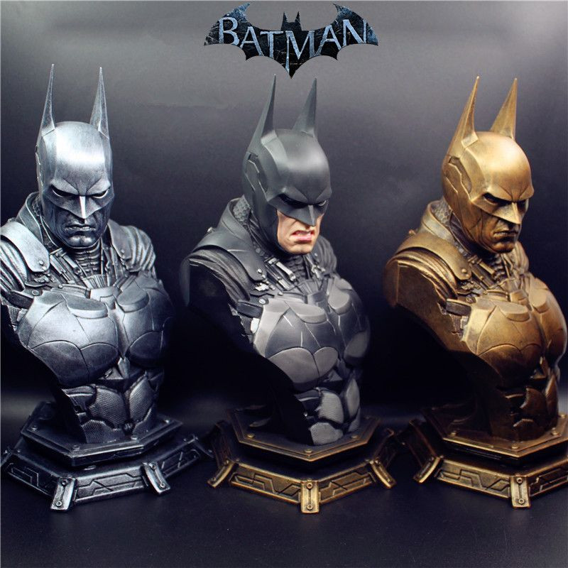 2018 (LIFE SIZE) 1/3 Super Hero Batman Statue Dawn of Justice Batman Resin Bust Statue Recast With replaced heads Toys batman v superman dawn of justice statue 1 1 life size batman bust the dark knight bruce wayne head portrait with led light