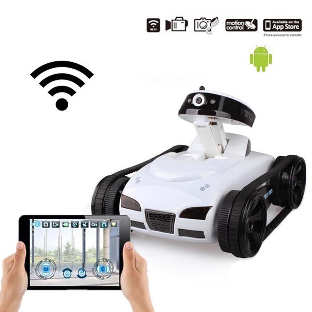 Happycow RC Cars Tank 777-270 WiFi voiture jouet avec caméra télécommande vidéo IOS téléphone ou Android cadeaux télécommande jouet