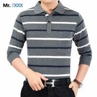 Stripe Polo Men 2017 Spring Brand Clothing Cotton Long Sleeve T Shirt Bottom Turn Down Collar