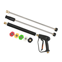 1Set Car High Pressure Washer Gun Tube Power Water Jet Washer With 5 Spray Nozzle For Cleaner Watering Lawn Garden