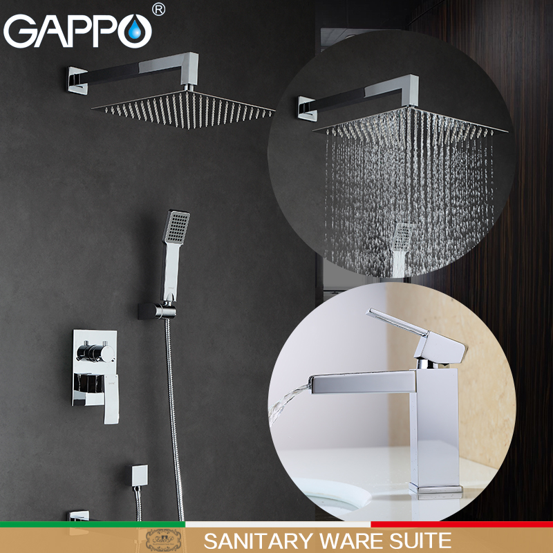 GAPPO Shower Faucets bath tap shower mixer basin faucet waterfall water taps basin tap Sanitary Ware Suite
