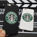 2017 New Arrival moda Starbuck Café Slim Tampa Traseira Da Pele para a apple iphone 6 6 s 4.7 ''ultra fino phone case Shell