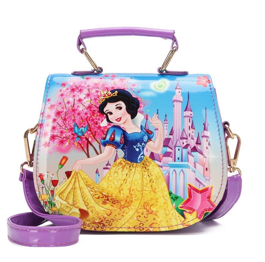 New Cute Mini Bag Children <font><b>Snow</b></font> White <font><b>Handbag</b></font> For Girls Cartoon Cat PU Waterproof Should Bag Kids Girls Fashion Messenger Bags