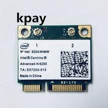 Kablosuz Wifi Kartı Intel Centrino Gelişmiş n 6200 622 ANHMW Mini PCI E 300 Mbps 802.11AGN çift bant 2.4G/5 GHZ