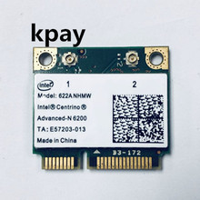 Wireless Wi Fi Card with Intel Centrino Advanced N 6200 622ANHMW with Mini PCI E 300Mbps 802.11AGN dual band 2.4G/5GHZ