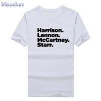 2017 Band Rock And Roll John Lennon Ringo Starr Paul McCartney George Harrison T Shirt Cotton