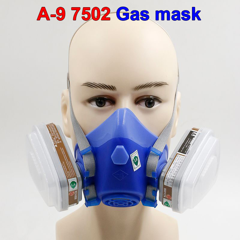 high-end respirator gas mask A-9 brand High quality chemical respirator mask pesticides paint spray industrial safety gas mask yihu gas mask blue two pot efficient respirator gas mask paint spray pesticides industrial safety protective mask