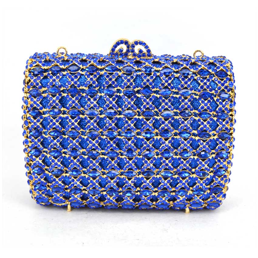 Women Wedding Clutches Bag blue Flower Crystal Evening Bags Party red clutch Purses colourful bird women evening luxury bags crystal clutches laides evening bag female party hard case bags wedding clutch purses