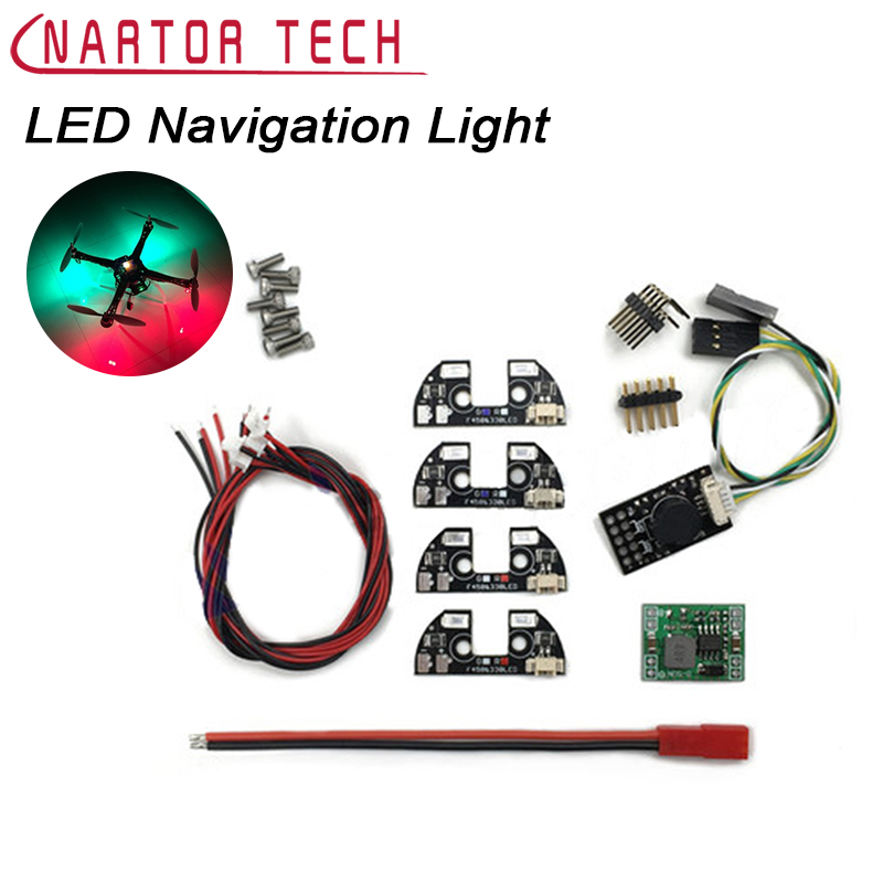 LED Night Navigation Light 4pcs 5V High Power Rack Board with Cable for FPV Quadcopter F450 F330 F550 S500 S550 Frame
