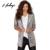 Hodoyi Mujeres La Moda de Nueva Sólido Sequined de Plata Outwears Abrigos Bolsillos Casual Manga Larga Da Vuelta-abajo al Collar Cardigan Chaqueta Chaqueta