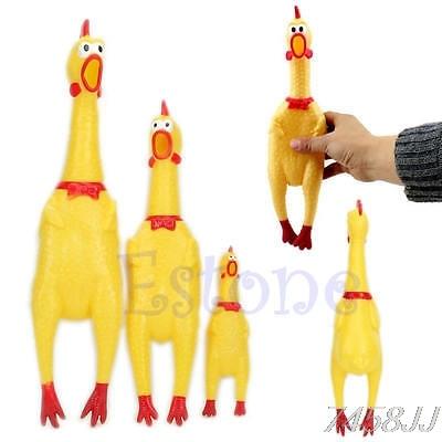 3 Размеры Новый Желтый Кричащие резинового цыпленка собака игрушка писк пищалка жевать подарок G03 Прямая поставка