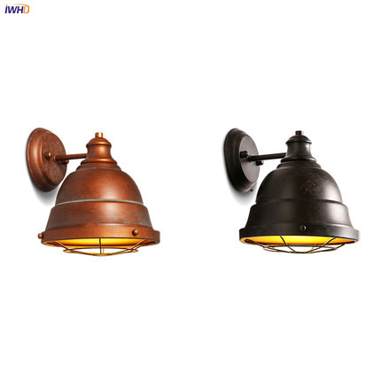 купить IWHD Loft Style Vintage Wall Lights Fixtures For Home Indoor Lighting Antique Industrial Wall Lamp Sconce LED Stair L по цене 4874.06 рублей
