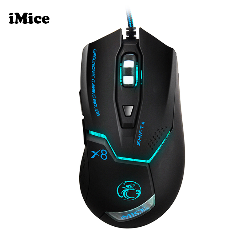 iMice Ergonomic Wired Gaming Mouse USB Optical Gamer Mouse Professional 3200DPI 6 Buttons Computer Game Mouse Mice For PC Dota 2
