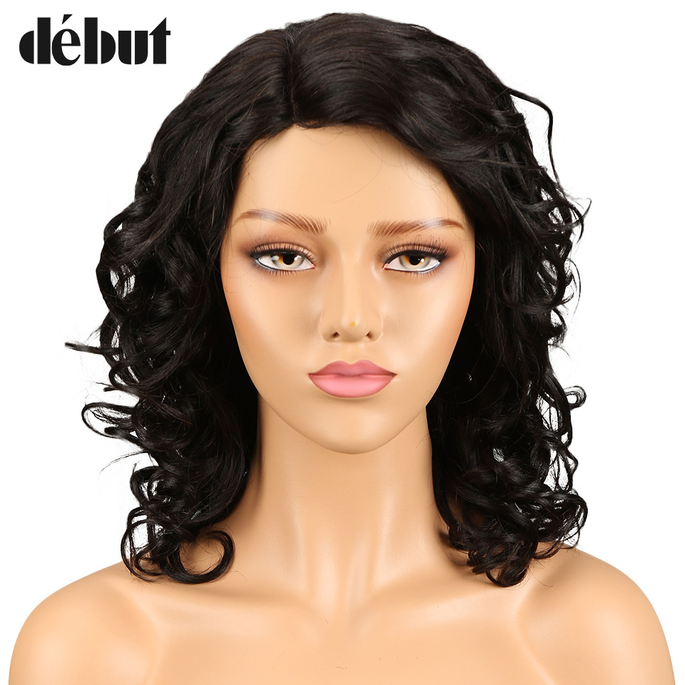 Debut Brazilian Human Hair Wigs Water Wave Remy Hair Long Human Hair Wigs For Black Women Curly Human Hair Wig Natural Color Wig