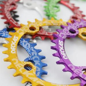 Image 3 - Deckas 104BCD Round Narrow Wide Chainring MTB Mountain bike bicycle 104BCD 32T 34T 36T 38T crankset Tooth plate Parts 104 BCD