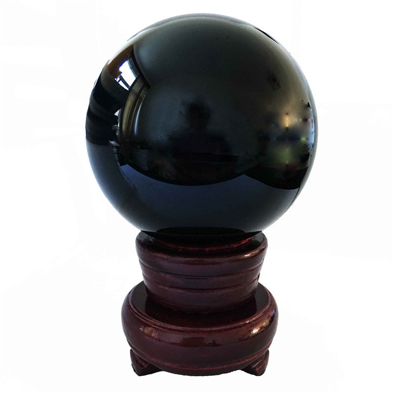 1pcs 60mm/70mm /80mm Jet Black Quartz Crystal Glass Crystal Ball Paperweight  For Furniture Component Hot Sales1pcs 60mm/70mm /80mm Jet Black Quartz Crystal Glass Crystal Ball Paperweight  For Furniture Component Hot Sales