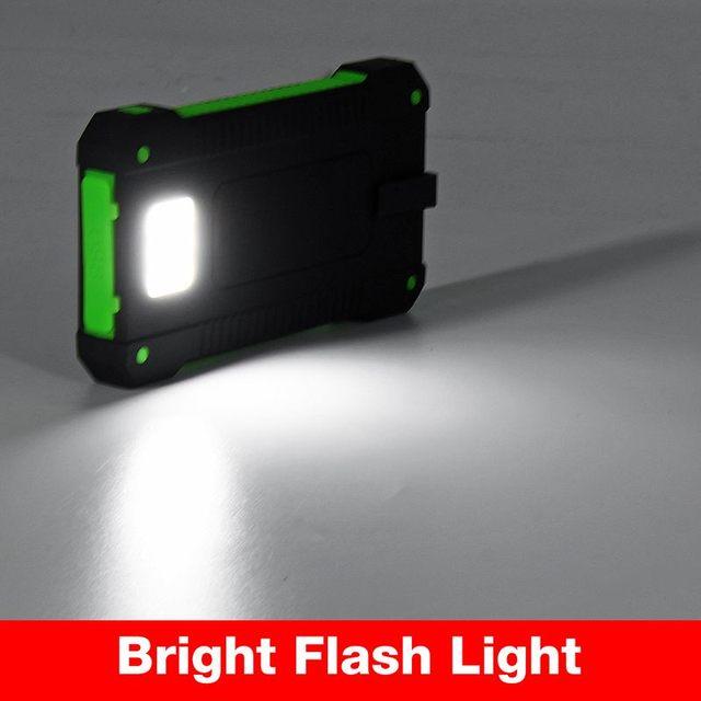 Cargador Solar a prueba de agua con luz LED (30000mah)